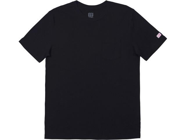 Topo Designs Camiseta Bolsillo Hombre, negro